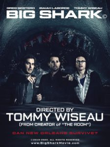 bigsharkposter 225x300 - Oh, Hi! THE ROOM's Tommy Wiseau is Directing a Shark Horror Movie