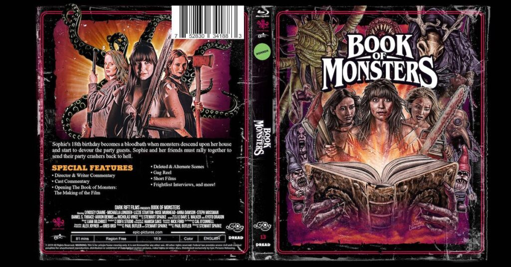 bookofmonstersbluraybanner1200x627 1024x535 - DREAD Presents: BOOK OF MONSTERS Poster and Blu-ray Artwork Explained