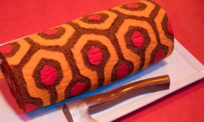 redrum roll cake 400x240 - Celebrate Overlook Hotel-Style with THE SHINING Redrum Roll-Cake from The Homicidal Homemaker