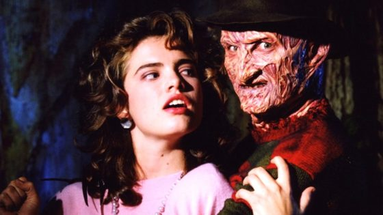 "A Nightmare on Elm Street Nancy and Freddy Banner 560x315 - Heather Langenkamp Shares Rare ""Relic"" from Original A NIGHTMARE ON ELM STREET"