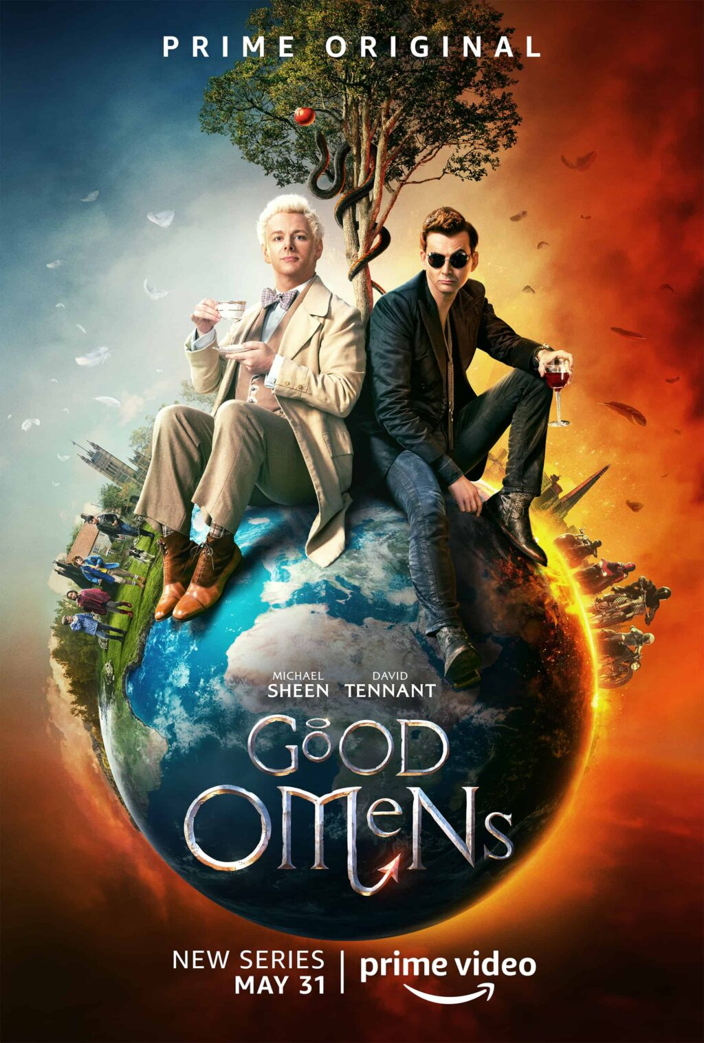 Good Omens Poster 1024x1517 - Trailer for GOOD OMENS Introduces an Odd Couple from Hell—And Heaven