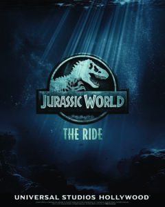 Jurassic World The Ride at USH teaser image with logo 240x300 - Universal Studios Hollywood Goes Underwater for JURASSIC WORLD Ride