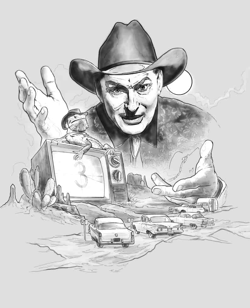 LDI artwork rough - Exclusive: Key Art for Shudder's Upcoming Season of THE LAST DRIVE-IN WITH JOE BOB BRIGGS