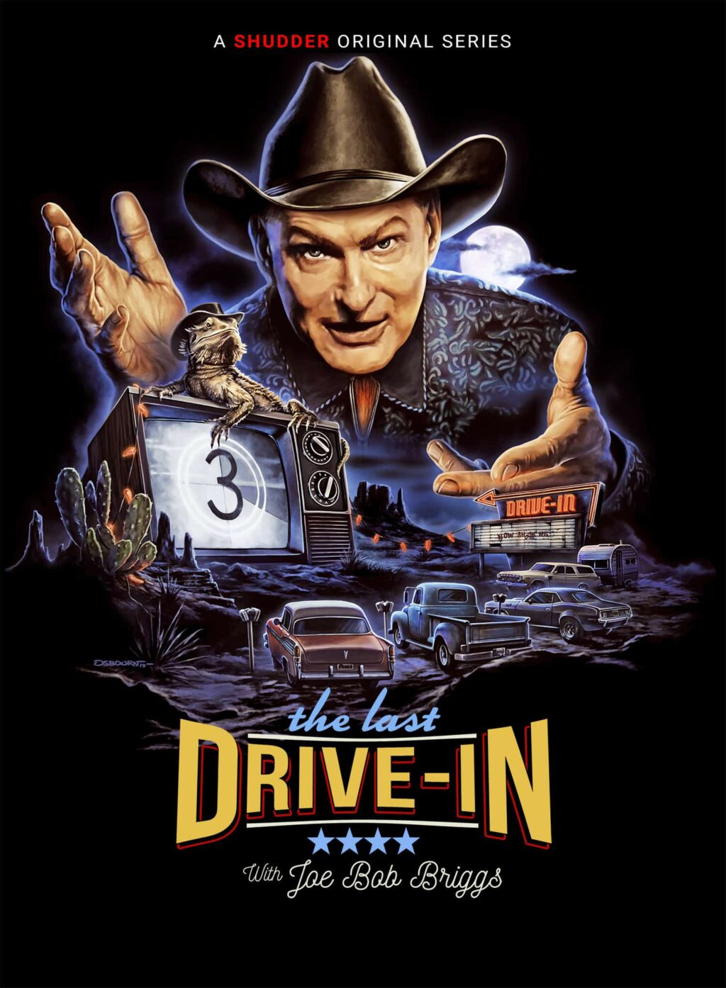 The Last Drive In series 1024x1394 - Exclusive: Key Art for Shudder's Upcoming Season of THE LAST DRIVE-IN WITH JOE BOB BRIGGS
