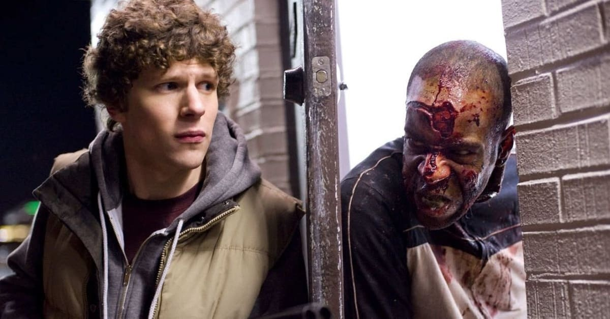Zombieland Eisenberg Banner - Jesse Eisenberg Gives Update on ZOMBIELAND: DOUBLE TAP from SXSW