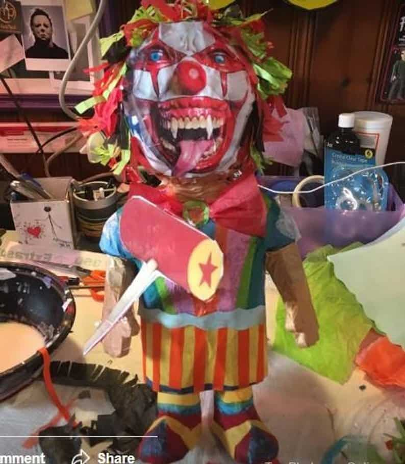 clown Piñata - Horror-Themed Piñatas from HANG ME Will Make Your Next Party a Smash