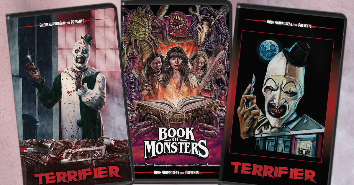 terrifierbookofmonstersvhspromobanner - TERRIFIER and BOOK OF MONSTERS VHS Editions on Sale Now!