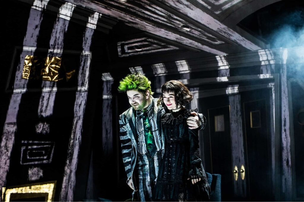 15856 ALEX BRIGHTMAN SOPHIA ANNE CARUSO in BEETLEJUICE Photo by Matthew Murphy 2019 e1555603189776 1024x683 - Horror Business: Bringing BEETLEJUICE: THE MUSICAL to Life