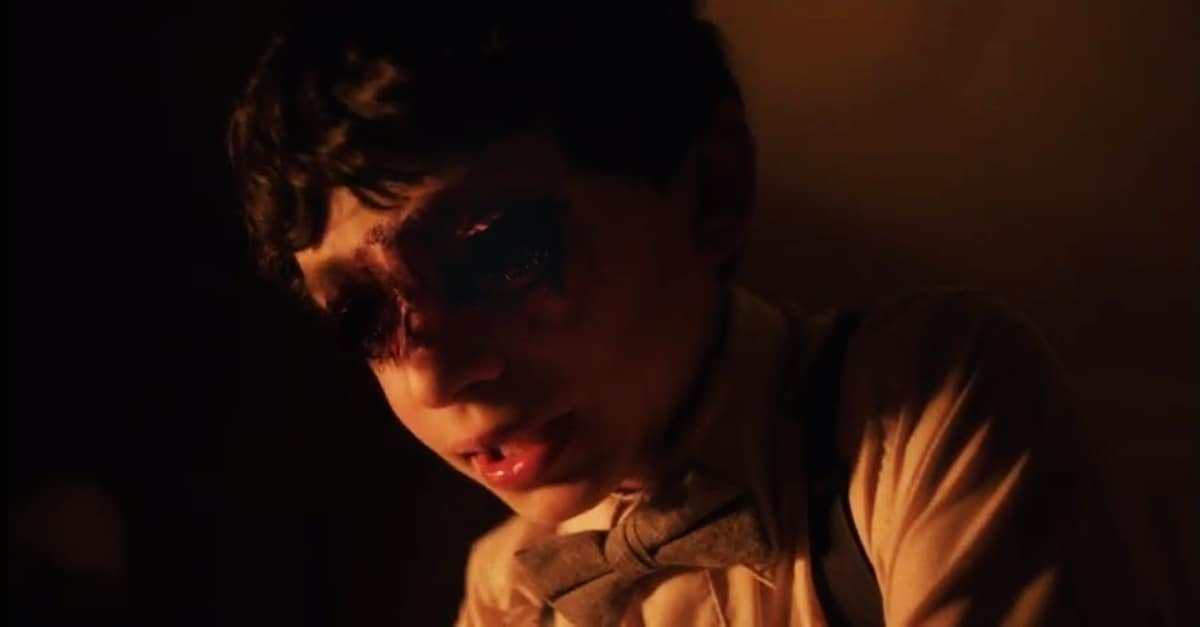 """Boo Banner - Exclusive: Creepy Kid Demands """"An Eye for an Eye"""" in Gut-Churning Clip from BOO!"""