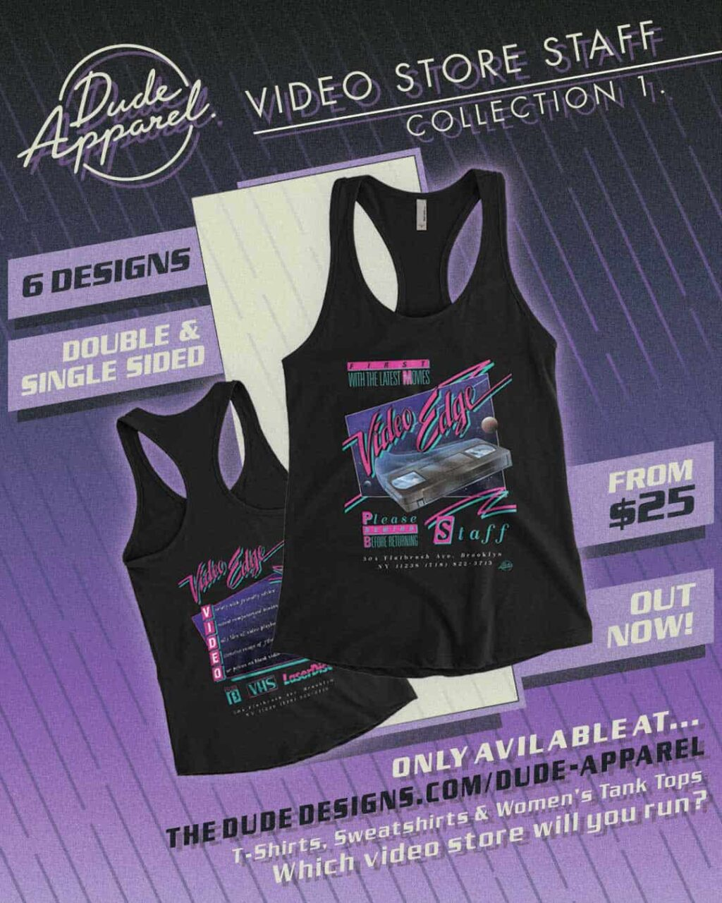 Dude Apparel VHS Video store 3 1024x1280 - DUDE APPAREL Launches the Perfect Retro Gear for Nostalgic Film Fans