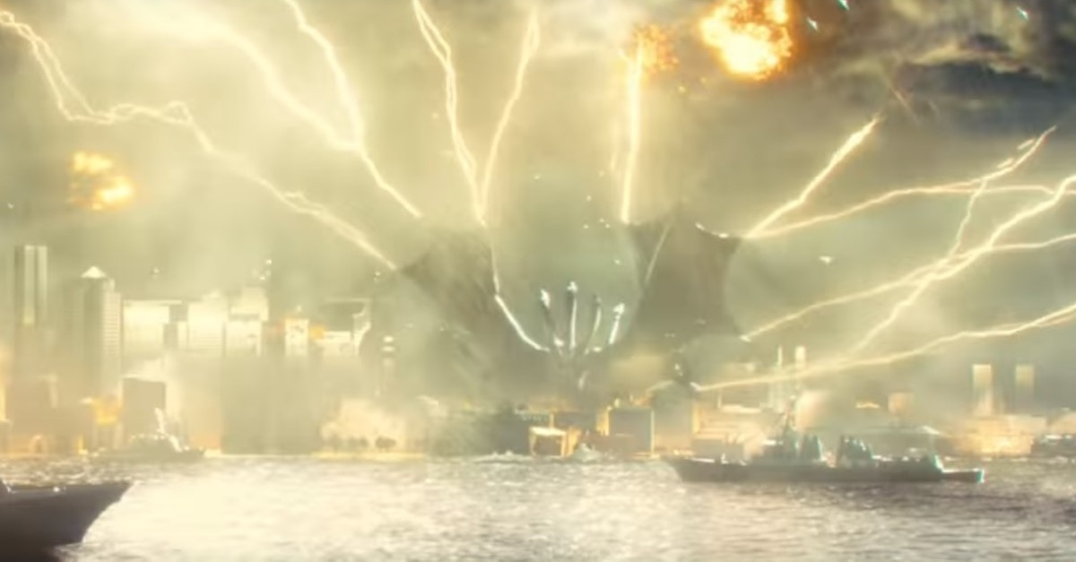 "Ghidorah Banner Godzilla King of the Monsters - Early Reactions to GODZILLA: KING OF THE MONSTERS Describe ""Beautiful, Gorgeous & Fierce"" Battle Sequences"