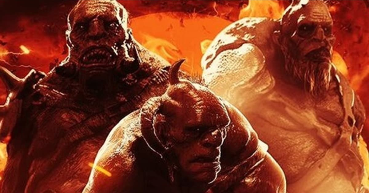 Hellboy Giants Banner - Unleash the Beasts! Monsters of HELLBOY Get Their Own Character Posters