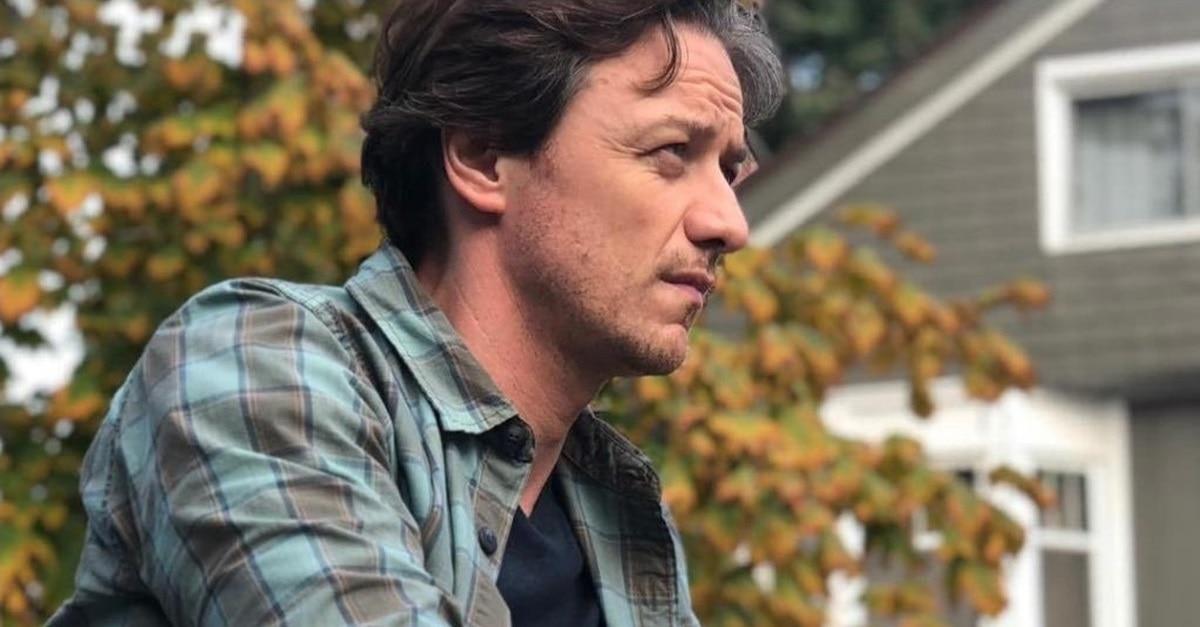 James McAvoy IT Banner - Check Out James McAvoy as Grown-Up Bill Denbrough in IT: CHAPTER TWO