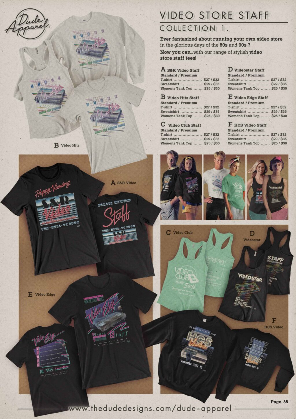 Retro Catalogue page VHS Video Staff Tees 1024x1448 - DUDE APPAREL Launches the Perfect Retro Gear for Nostalgic Film Fans