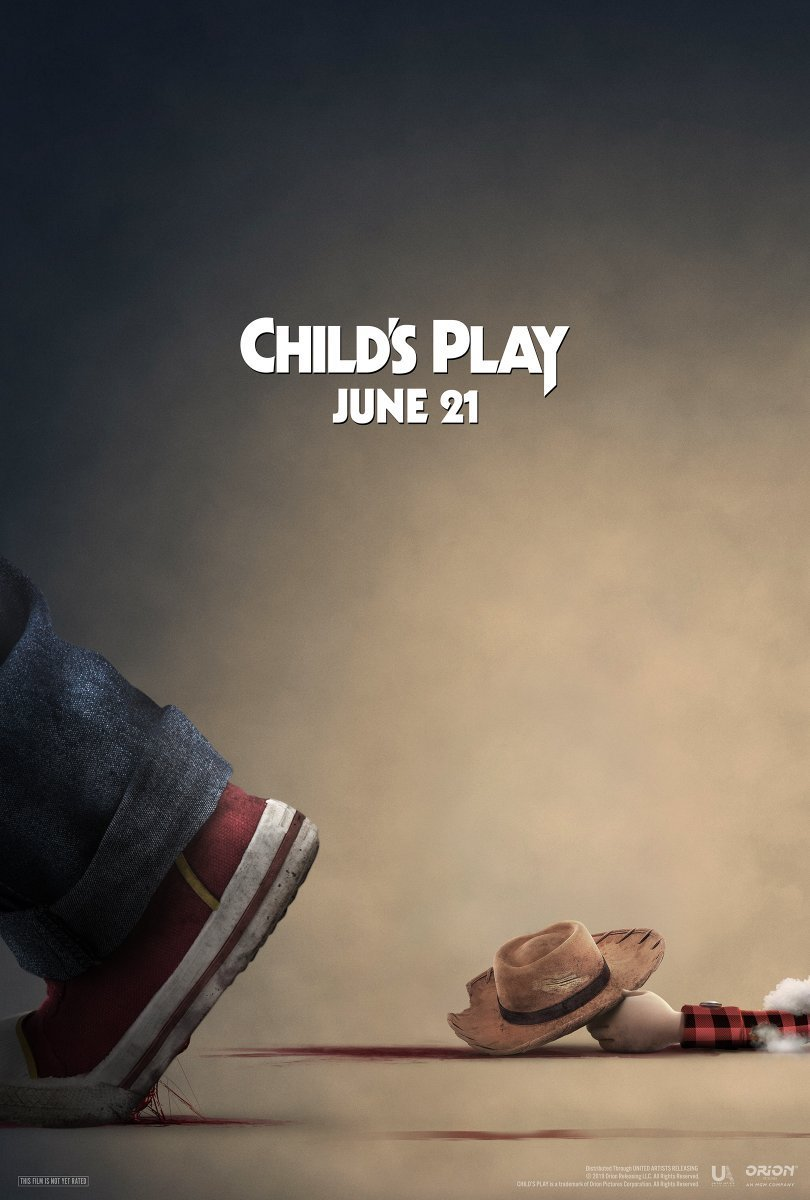 childs play poster 1 - F*** Your TOY STORY! Chucky Stomps Woody in Latest Poster for CHILD'S PLAY