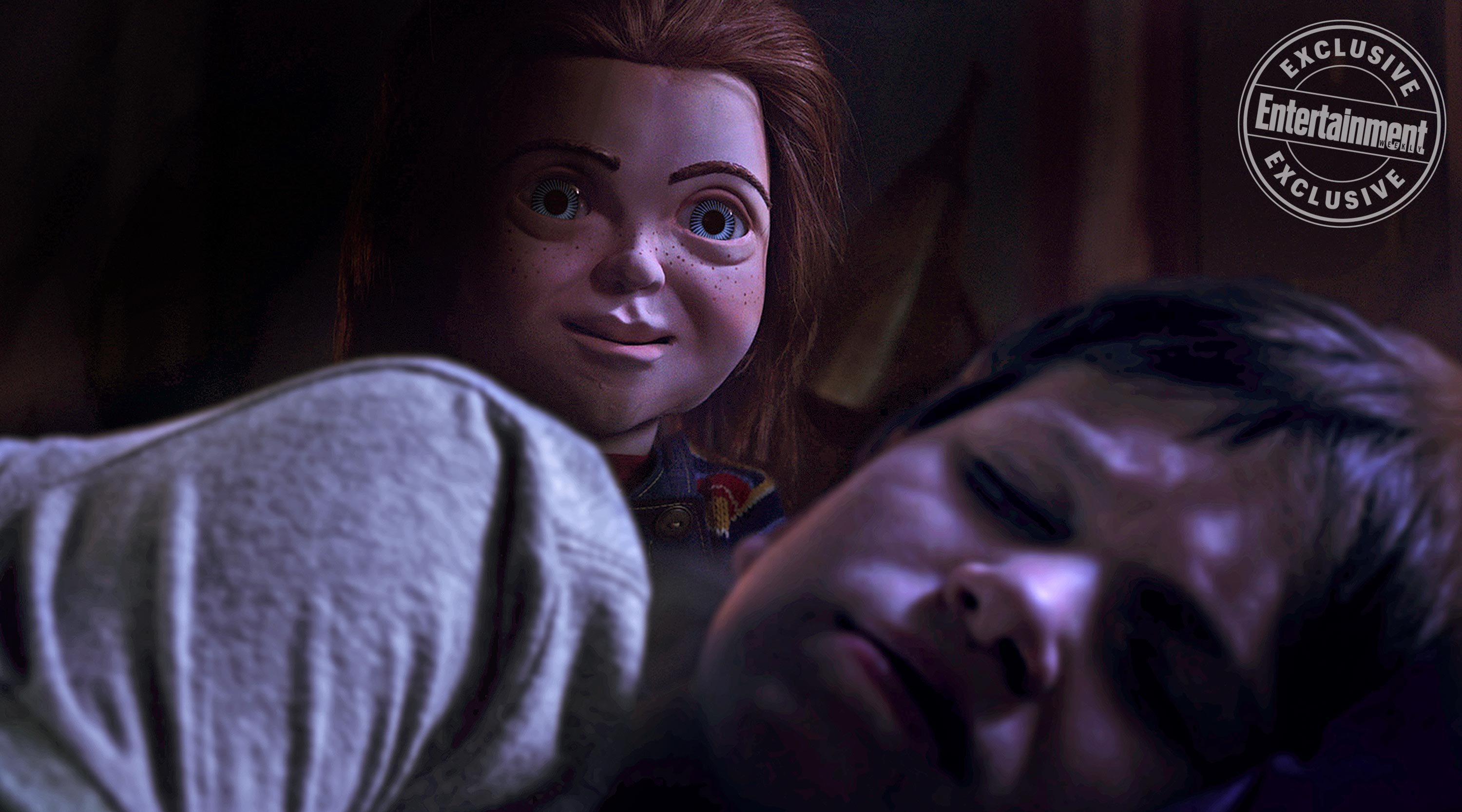 chucky new - F*** Your TOY STORY! Chucky Stomps Woody in Latest Poster for CHILD'S PLAY