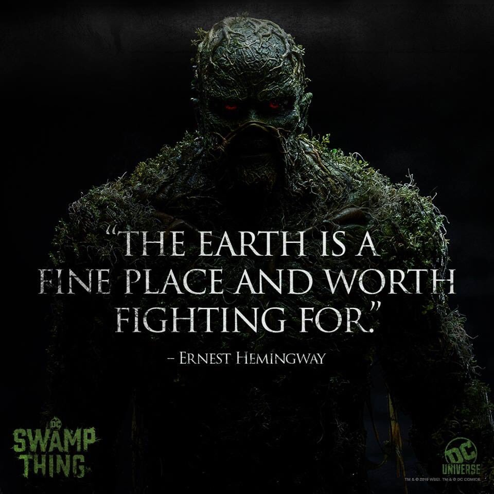 New Poster Set for DC\'s SWAMP THING TV Series Quotes Ernest ...