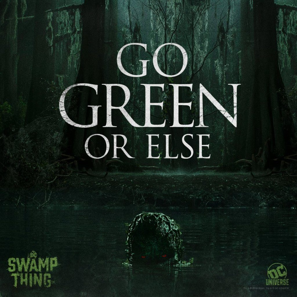 swamp thing 3 1024x1024 - New Poster Set for DC's SWAMP THING TV Series Quotes Ernest Hemingway