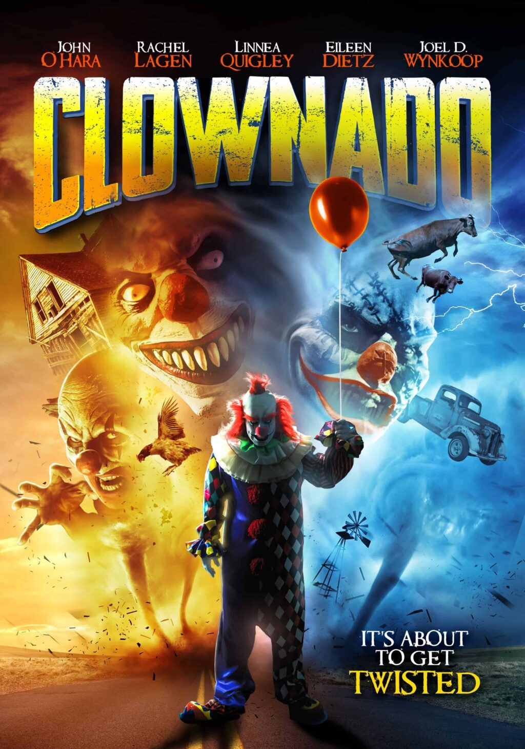 Clownado Poster 2 1024x1459 - Trailer: F*** Your Flying Sharks! Teaser & New Poster for CLOWNADO Blow In