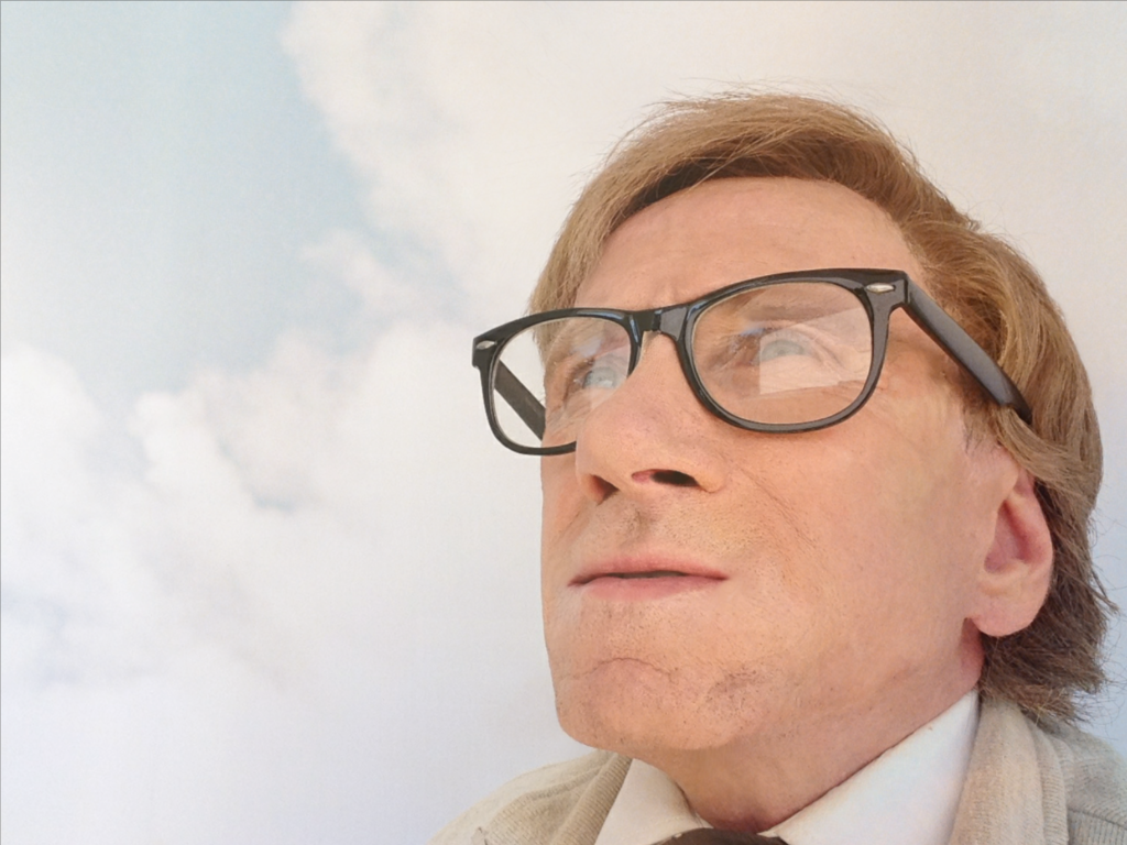 HighRes Bill Oberst Jr as Ray Bradbury clouds 1024x768 - How Bill Oberst Jr. and VFX Guru Christopher Cooksey Brought RAY BRADBURY LIVE to Life