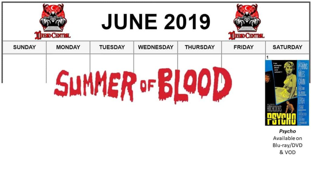 """June 2019 Week 1 1024x576 - """"Summer of Blood"""": Our Latest #MonthOfDread is All About Slashers!"""
