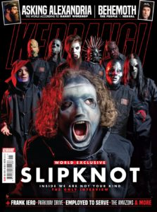"K1774 Slipknot cover 223x300 - Shawn ""Clown"" Crahan Slams Journalist for Asking the Identity of SLIPKNOT's New Mystery Member"