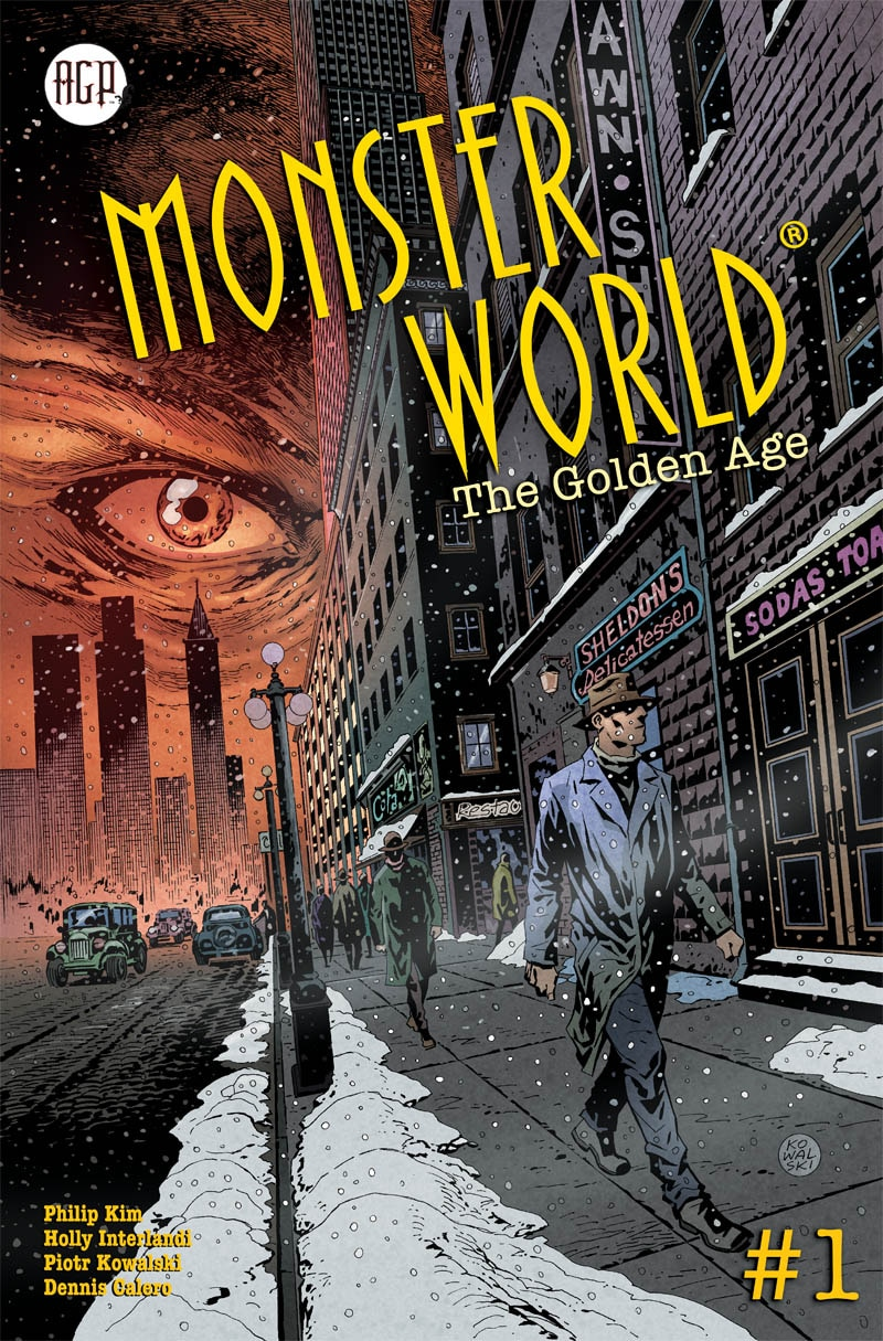 PREVIEWSMAY2019 AGP MonsterWorld Golden Age Issue01 CoverA proof - Preview MONSTER WORLD: THE GOLDEN AGE #1 from American Gothic Press
