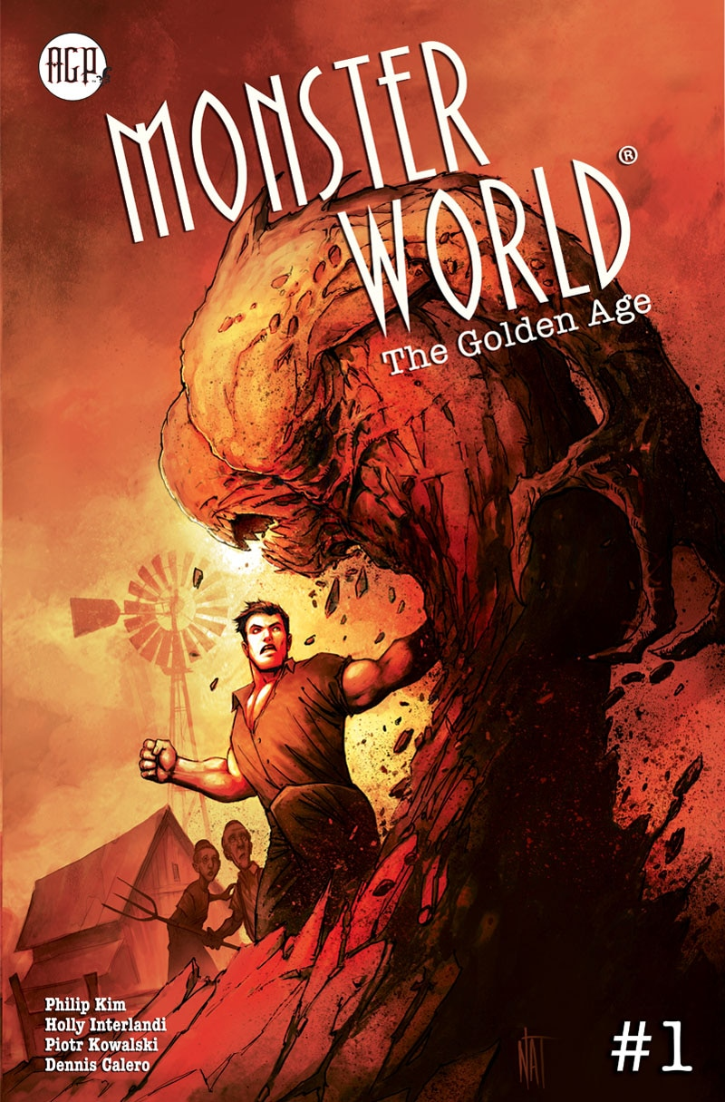 PREVIEWSMAY2019 AGP MonsterWorld Golden Age Issue01 CoverB proof - Preview MONSTER WORLD: THE GOLDEN AGE #1 from American Gothic Press