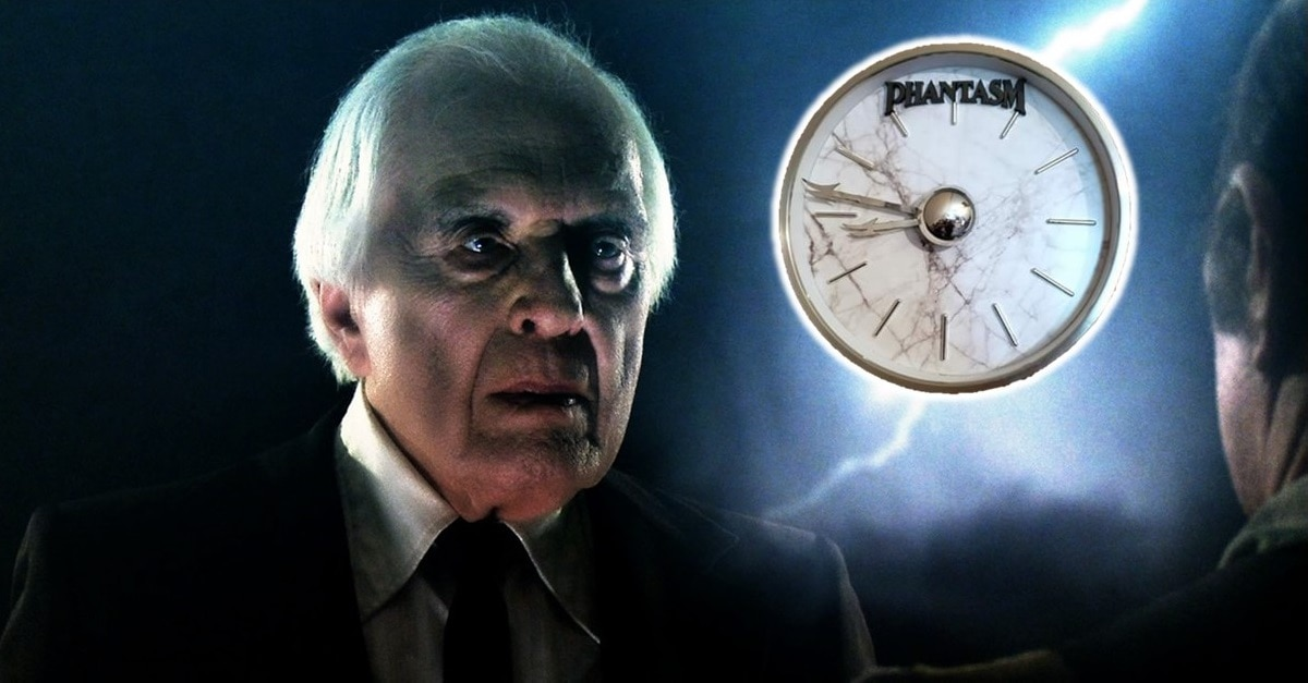 Phantasm Clock Banner - It's Terror Time, Boooooy! Nightmares Unlimited Releasing Limited Edition PHANTASM Clock
