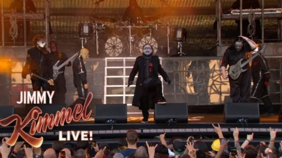 "Slipknot Jimmy Kimmel Banner 560x315 - ICYMI: Check Out SLIPKNOT Performing ""Unsainted"" on Jimmy Kimmel Live!"