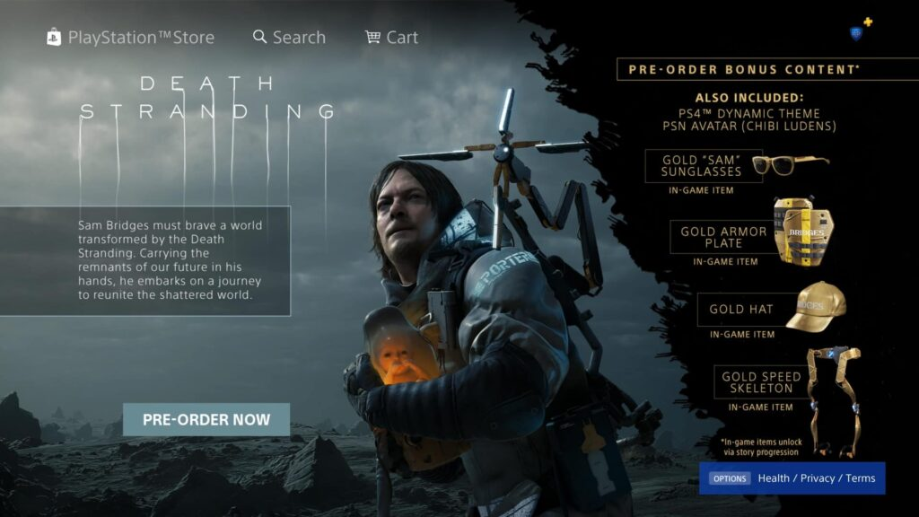 deathstrandingpreorder 1024x576 - Hideo Kojima's DEATH STRANDING Reveals Pre-order Bonuses: Release Date On The Way