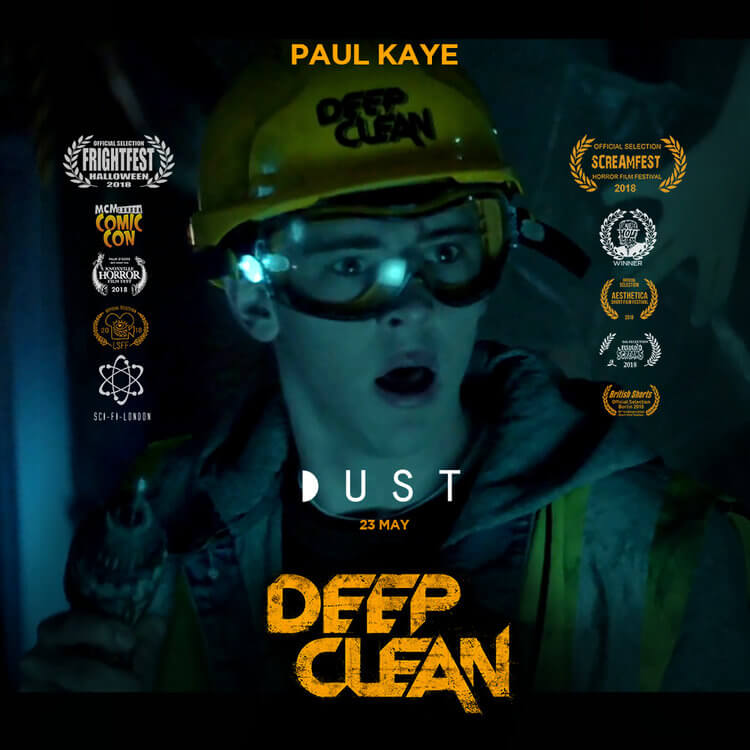 deep clean alex poster 1 - Watch Now: GAME OF THRONES Actor Paul Kaye Stars In Sci-Fi/Horror Short DEEP CLEAN