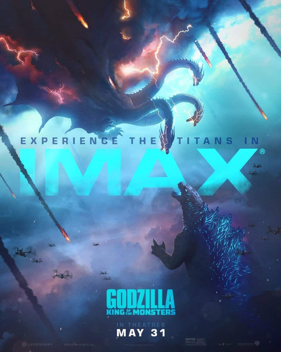 godzilla imax - 3D & IMAX Posters for GODZILLA: KING OF THE MONSTERS Highlight Glorious Battle Scenes in Store