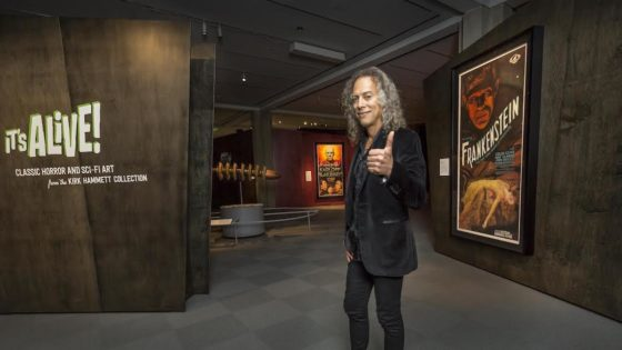 kirkhammettitsalivebanner 560x315 - More Details Emerge for METALLICA Guitarist's Sci-Fi/Horror Gallery at Toronto's ROM