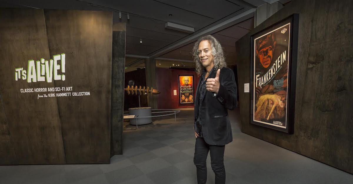 kirkhammettitsalivebanner - More Details Emerge for METALLICA Guitarist's Sci-Fi/Horror Gallery at Toronto's ROM
