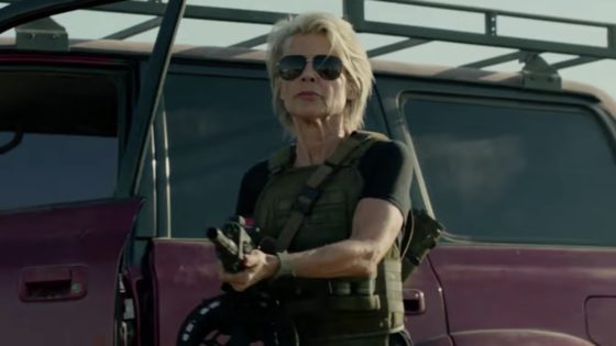 terminatordarkfatebanner 560x315 - She's Back! Sarah Connor Rocks The First TERMINATOR: DARK FATE Trailer
