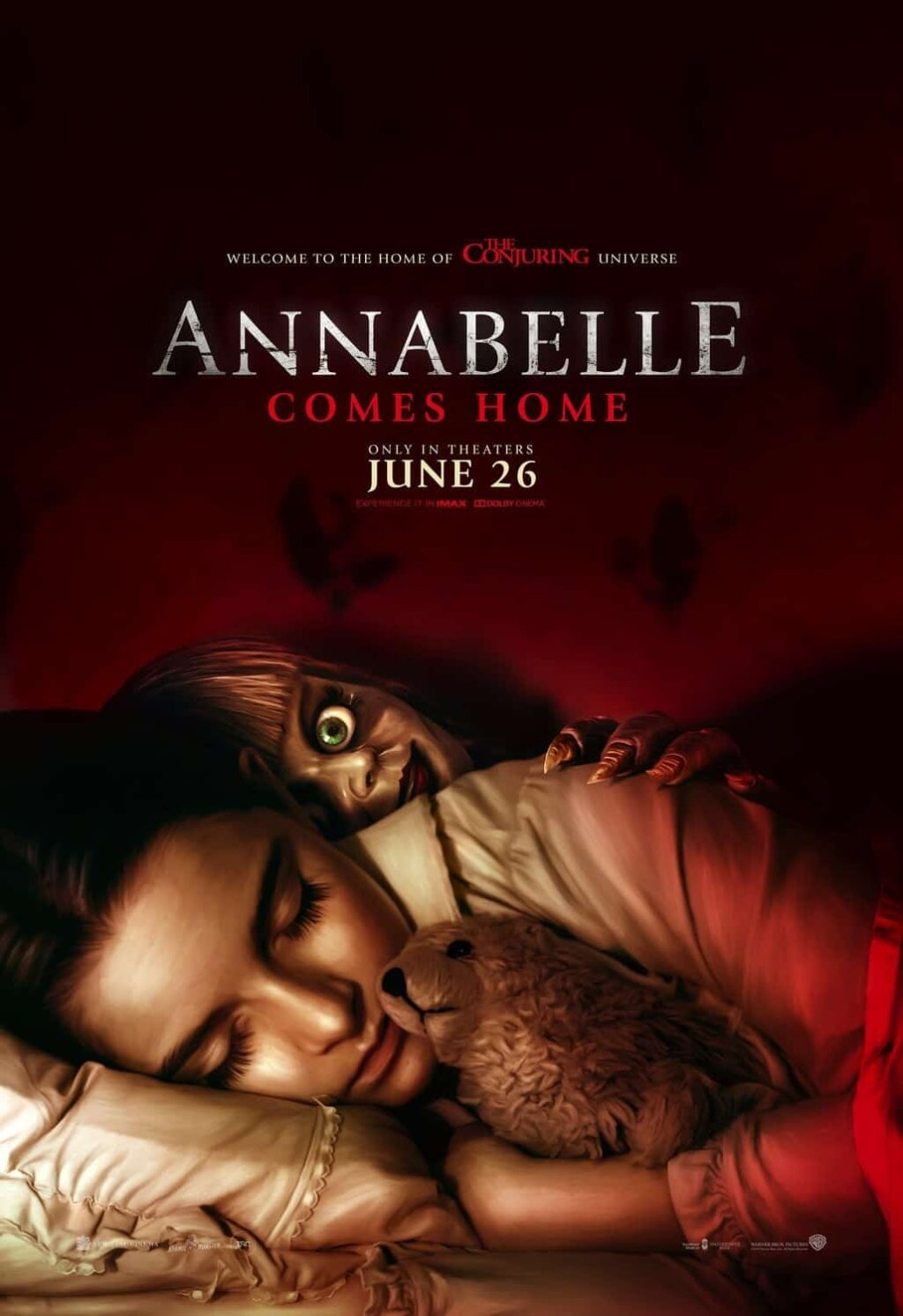 "Annabelle Comes Home Poster 1024x1493 - Life-Sized Annabelle Doll ""Comes Home"" from WB Shop"