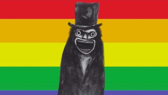 Babadook Pride Banner 560x315 - Celebrate Pride Month with Pride-Themed Blu-Ray for THE BABADOOK