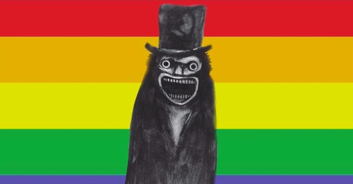 Babadook Pride Banner - Celebrate Pride Month with Pride-Themed Blu-Ray for THE BABADOOK