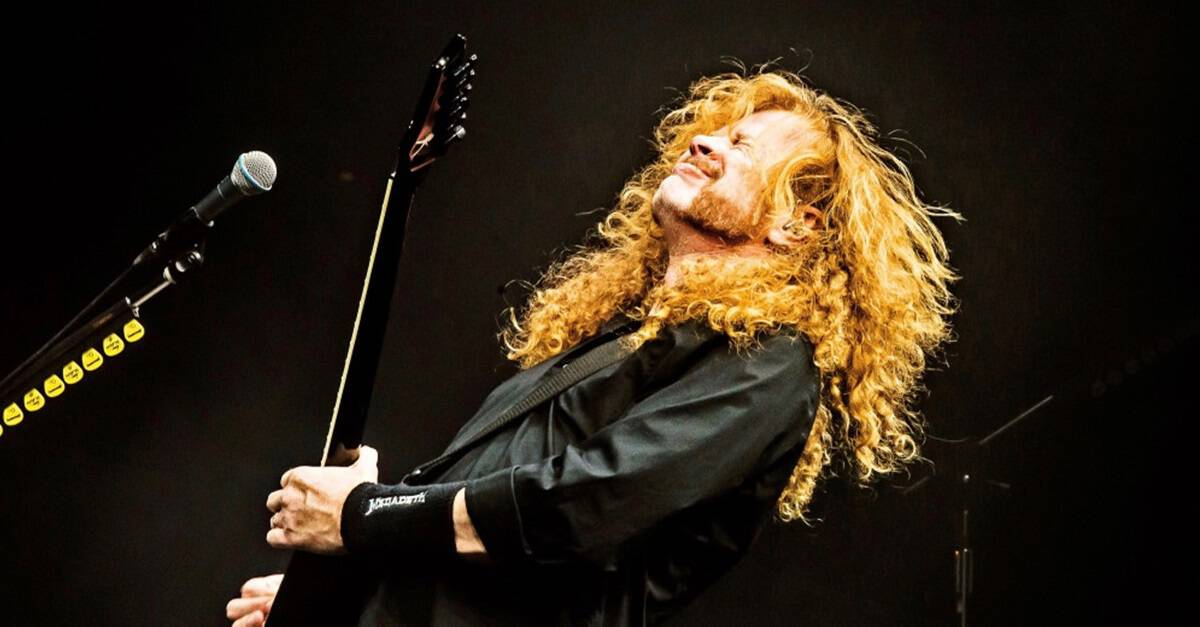 Megadeath Banner - Megadeth's Dave Mustaine Reveals He Has Throat Cancer, Most 2019 Tour Dates Canceled