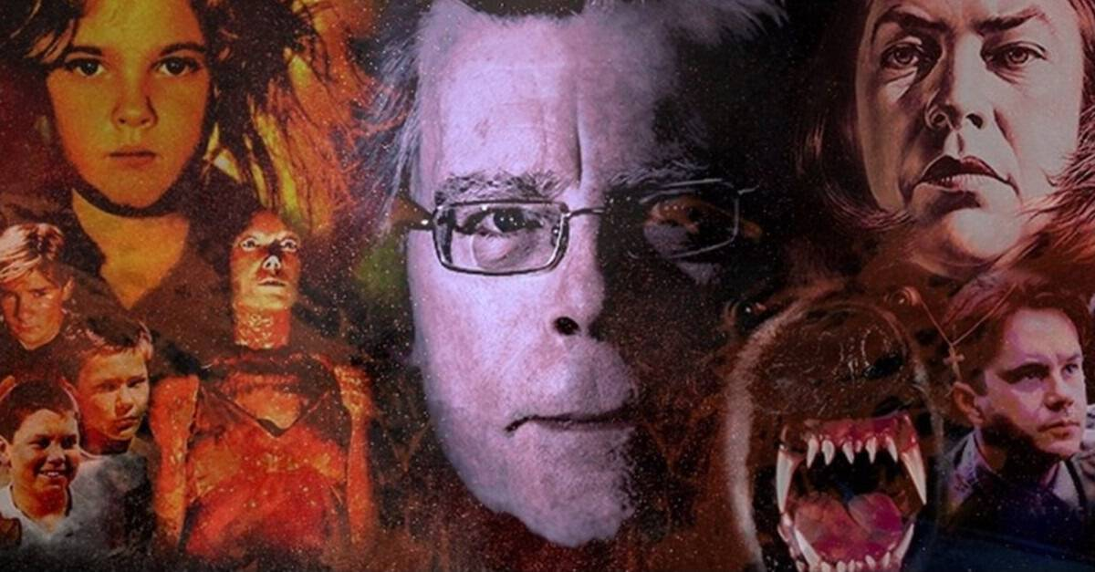 Stephen King Art Banner - Nothing But Stephen King Movies in Our Latest #MonthOfDread!