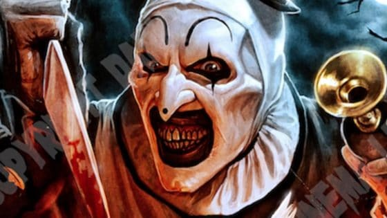 Terrifier 2 Banner 560x315 - Indiegogo Pitch Video for TERRIFIER 2 Promises to Outdo the Hacksaw Scene--Repeatedly!