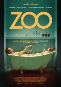 Zoo poster 210x300 - Trailer: In ZOO Two Couples Attempt to Survive the Zombie Apocalypse--And Each Other!