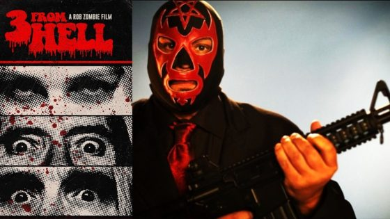 "3 from hell black satan banner 560x315 - Meet the Leader of ""The Black Satans"" in Latest Image from Rob Zombie's 3 FROM HELL"