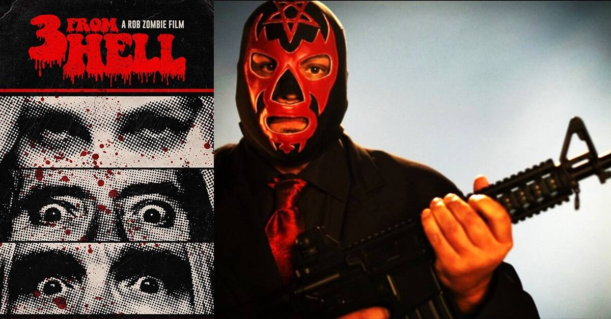 "3 from hell black satan banner - Meet the Leader of ""The Black Satans"" in Latest Image from Rob Zombie's 3 FROM HELL"