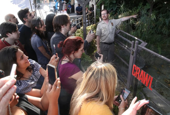 Crawl 8 - Feeding Time! Check Out Images from Press Event for CRAWL at the LA Zoo with Real Alligators