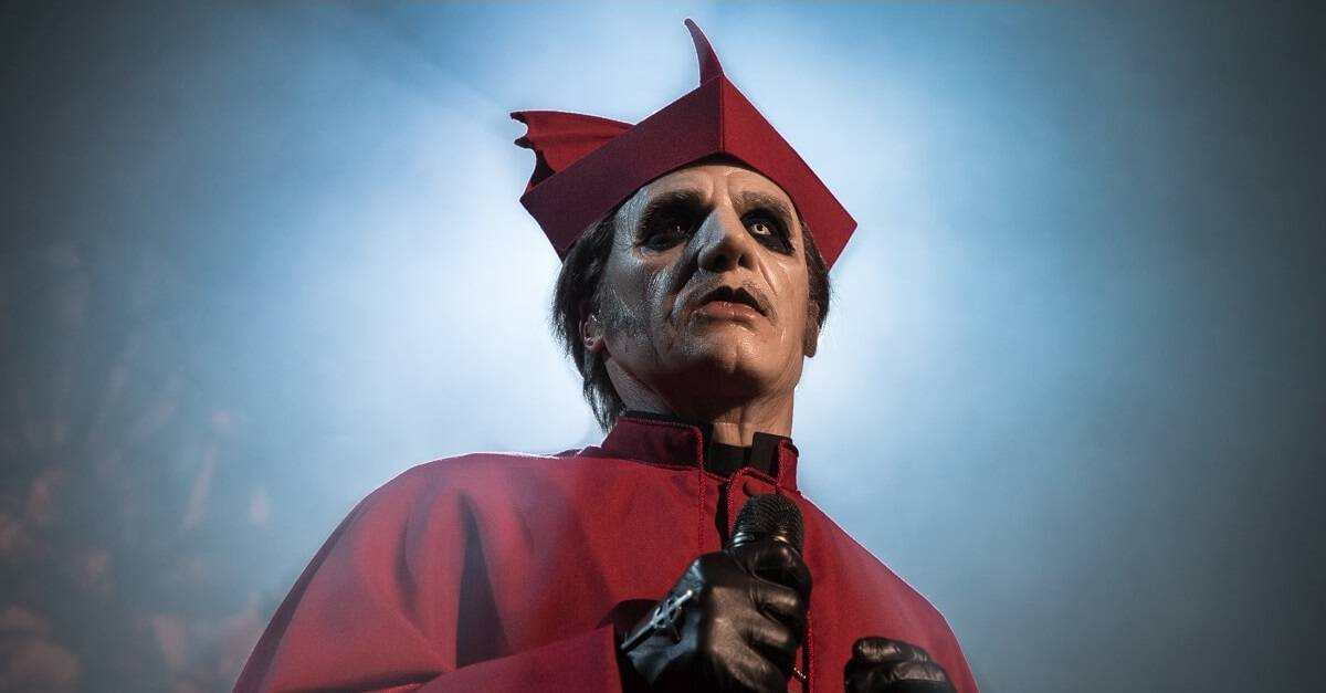 """Ghost Banner - Sing Along with Lyric Video for """"Faith"""" by GHOST"""