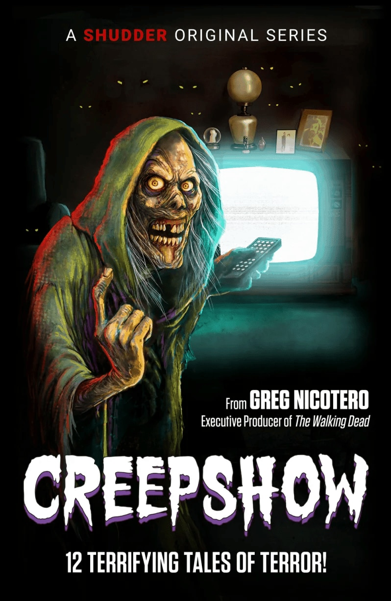 "creepshow poster - Check Out Tricia Helfer in ""First Look"" at Shudder's CREEPSHOW Reboot"