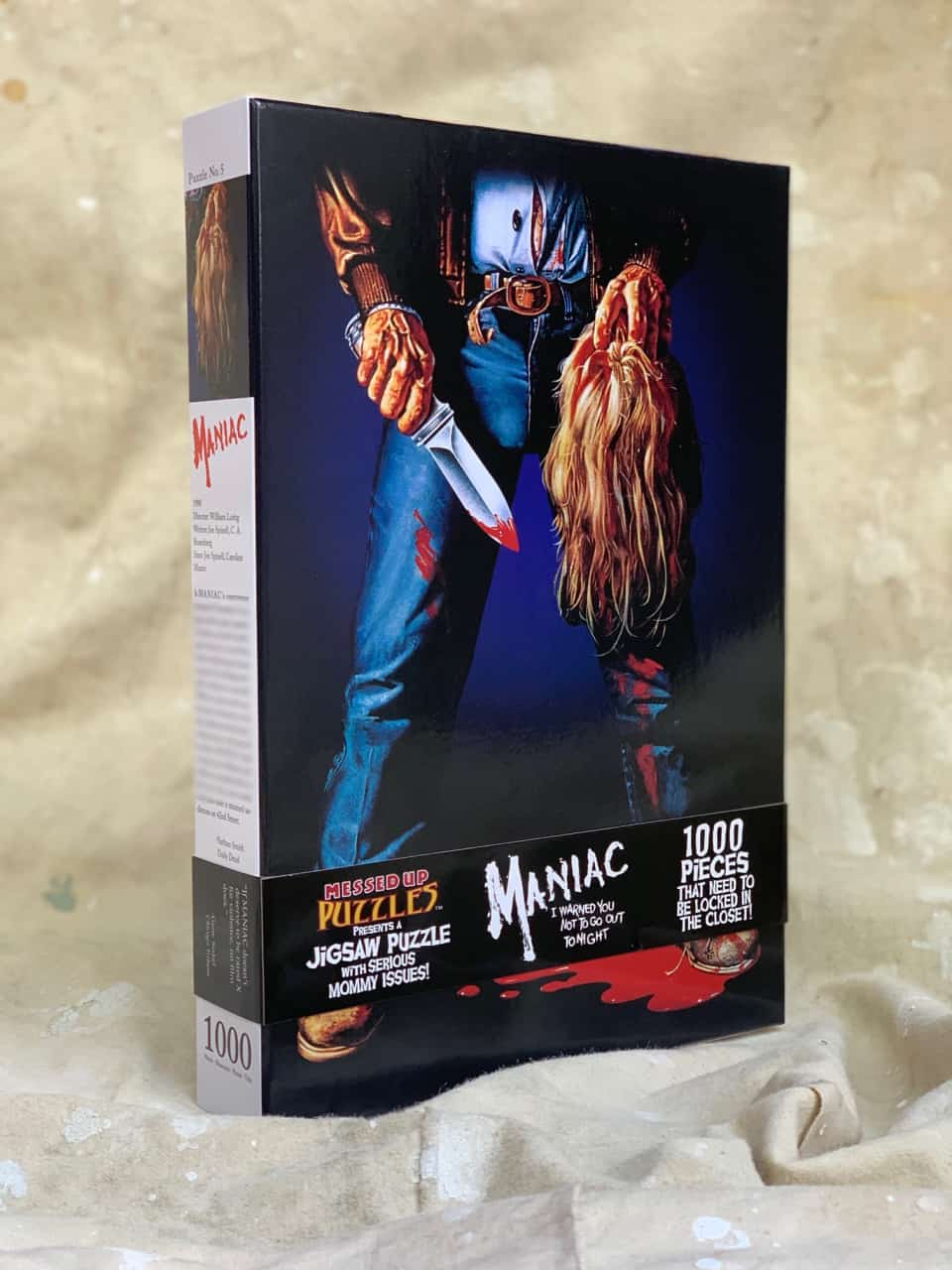maniacpuzzleboxart - Messed Up Puzzles Announces MANIAC And ZOMBIE Limited Jigsaw Puzzles