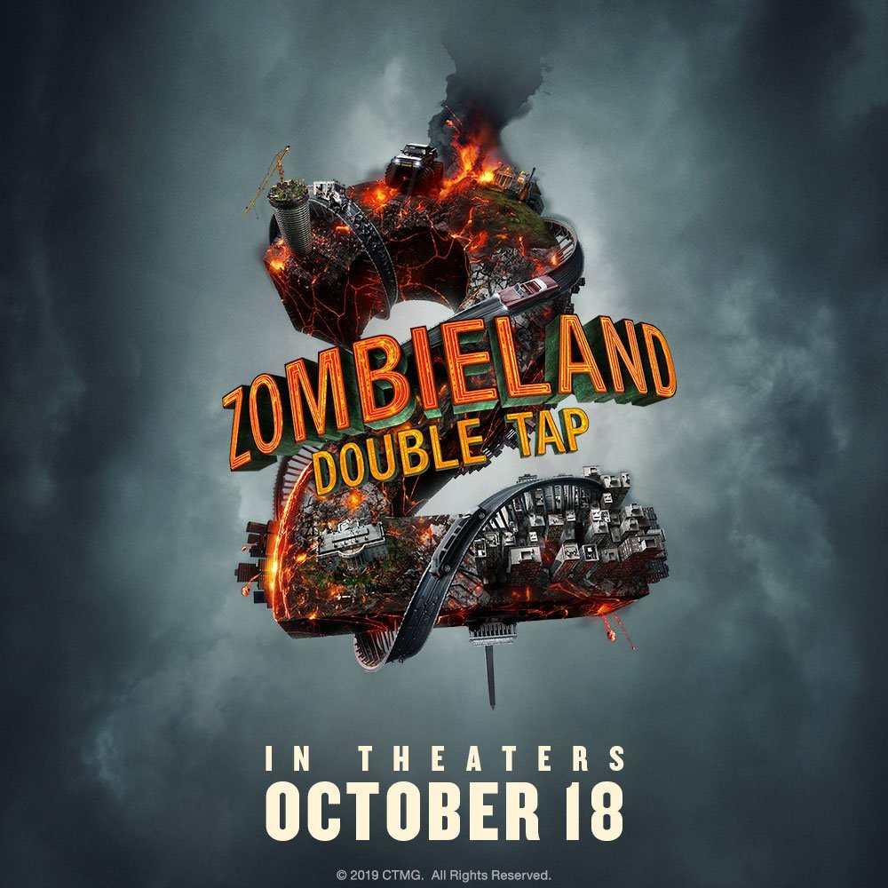 zombieland 2 double tap poster  - New Poster for ZOMBIELAND: DOUBLE TAP Arriving This October